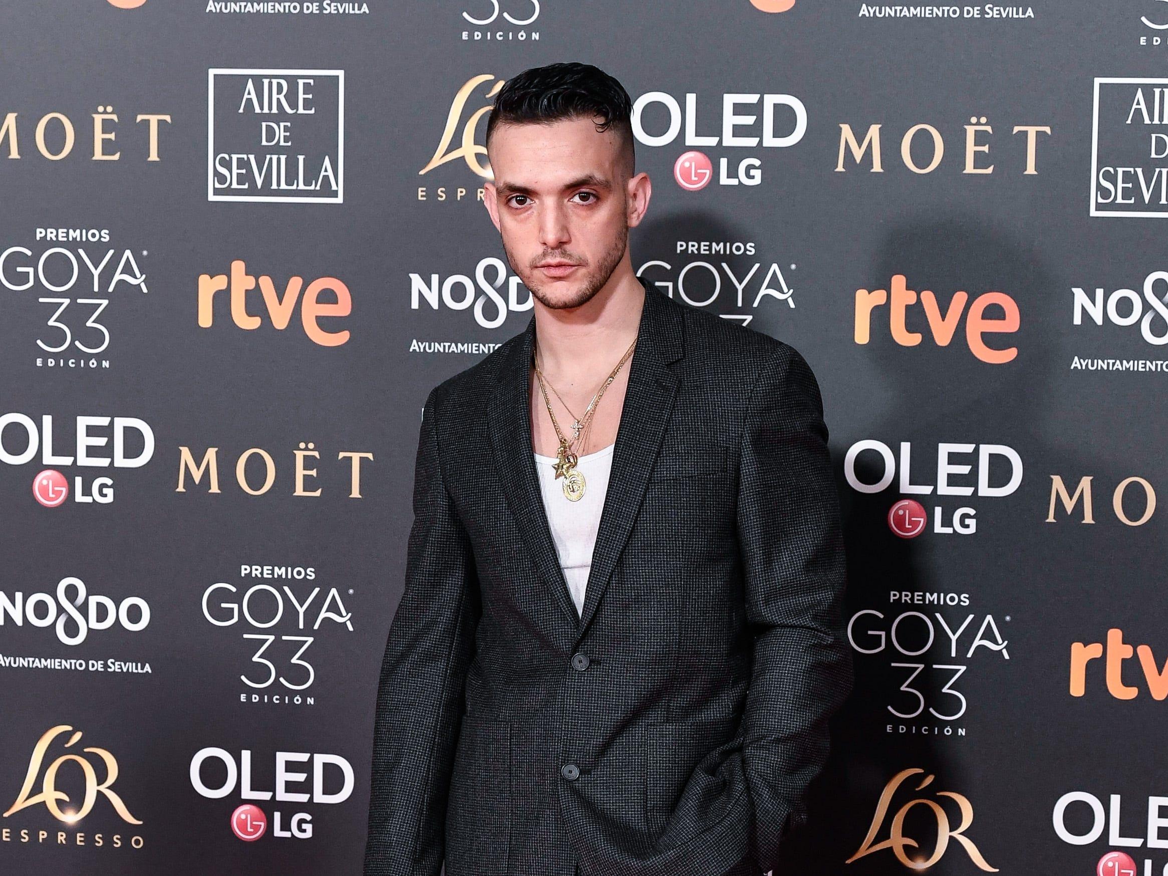 C. Tangana asiste a la 33ª edición de los Premios de Cine Goya en el Palacio de Congresos y Exposiciones FIBES el 2 de febrero de 2019 en Sevilla, España.