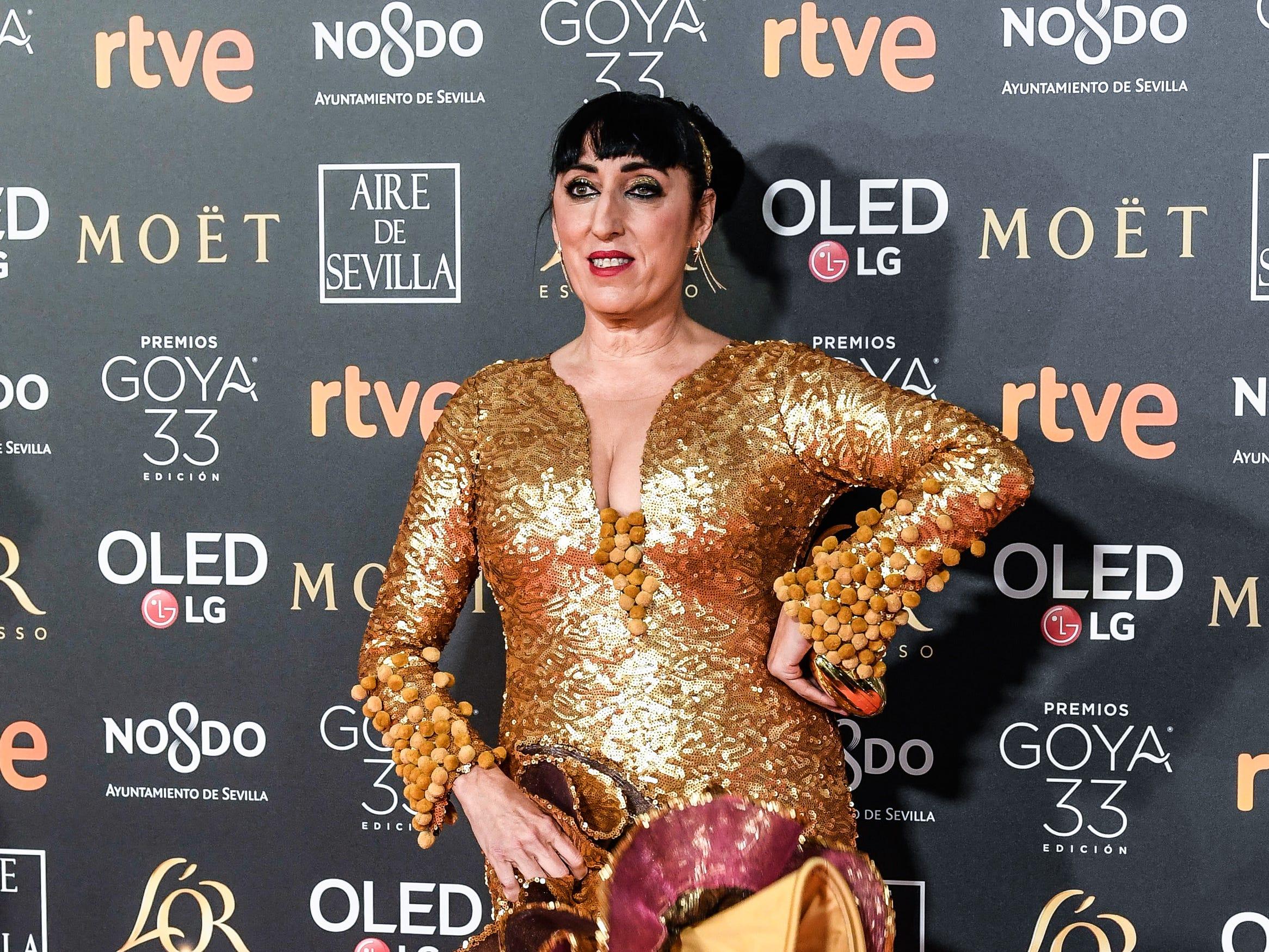 Rossy de Palma asiste a la 33ª edición de los Premios de Cine Goya en el Palacio de Congresos y Exposiciones FIBES el 2 de febrero de 2019 en Sevilla, España.