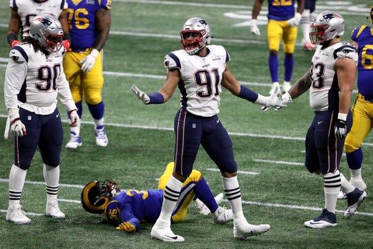 Fotos de las mejores acciones del juego entre Patriotas de Nueva Inglaterra y Rams de Los Ángeles en el Super Bowl LIII en Atlanta, Georgia.