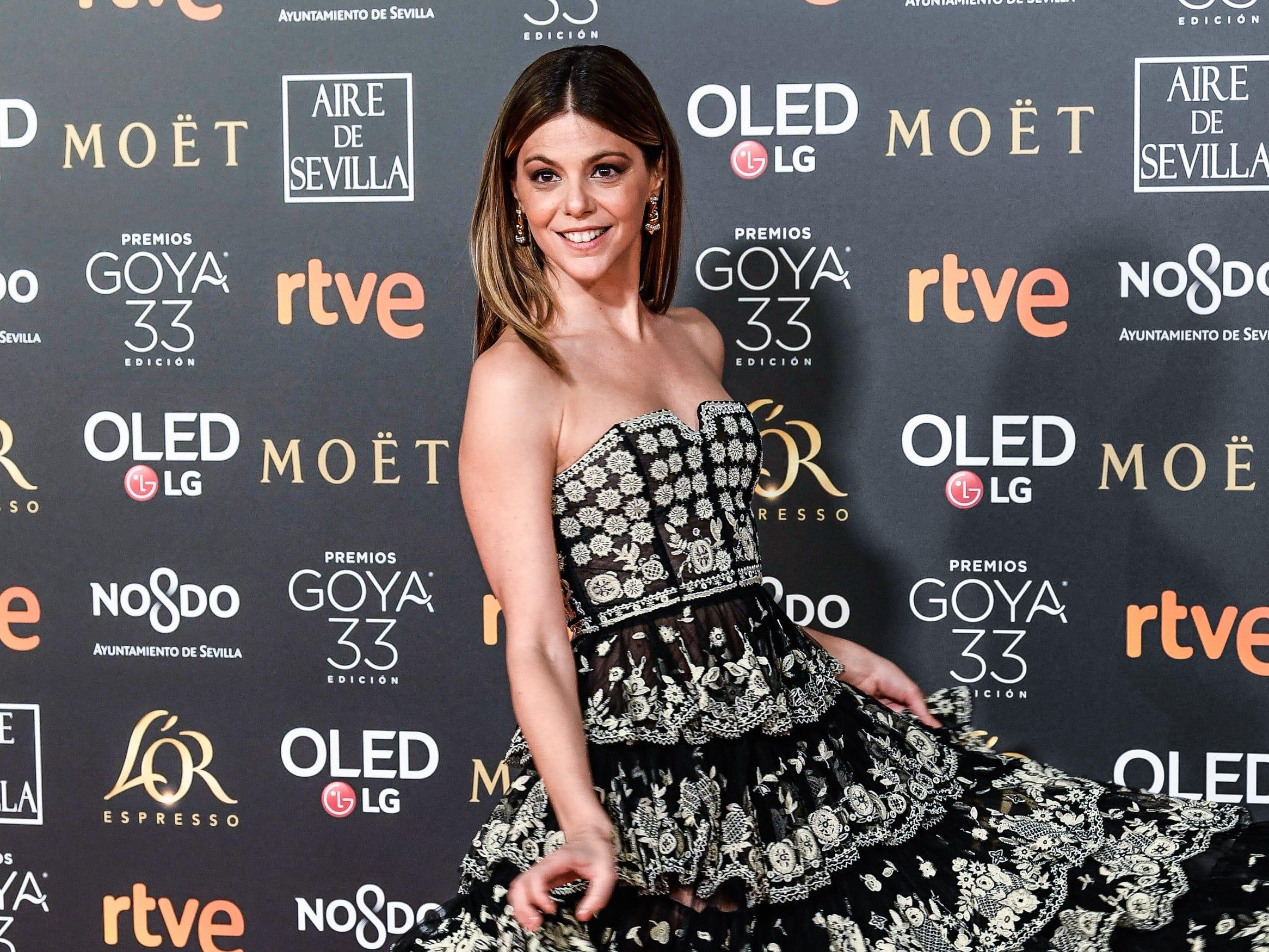 Manuela Velasco asiste a la 33ª edición de los Premios de Cine Goya en el Palacio de Congresos y Exposiciones FIBES el 2 de febrero de 2019 en Sevilla, España.