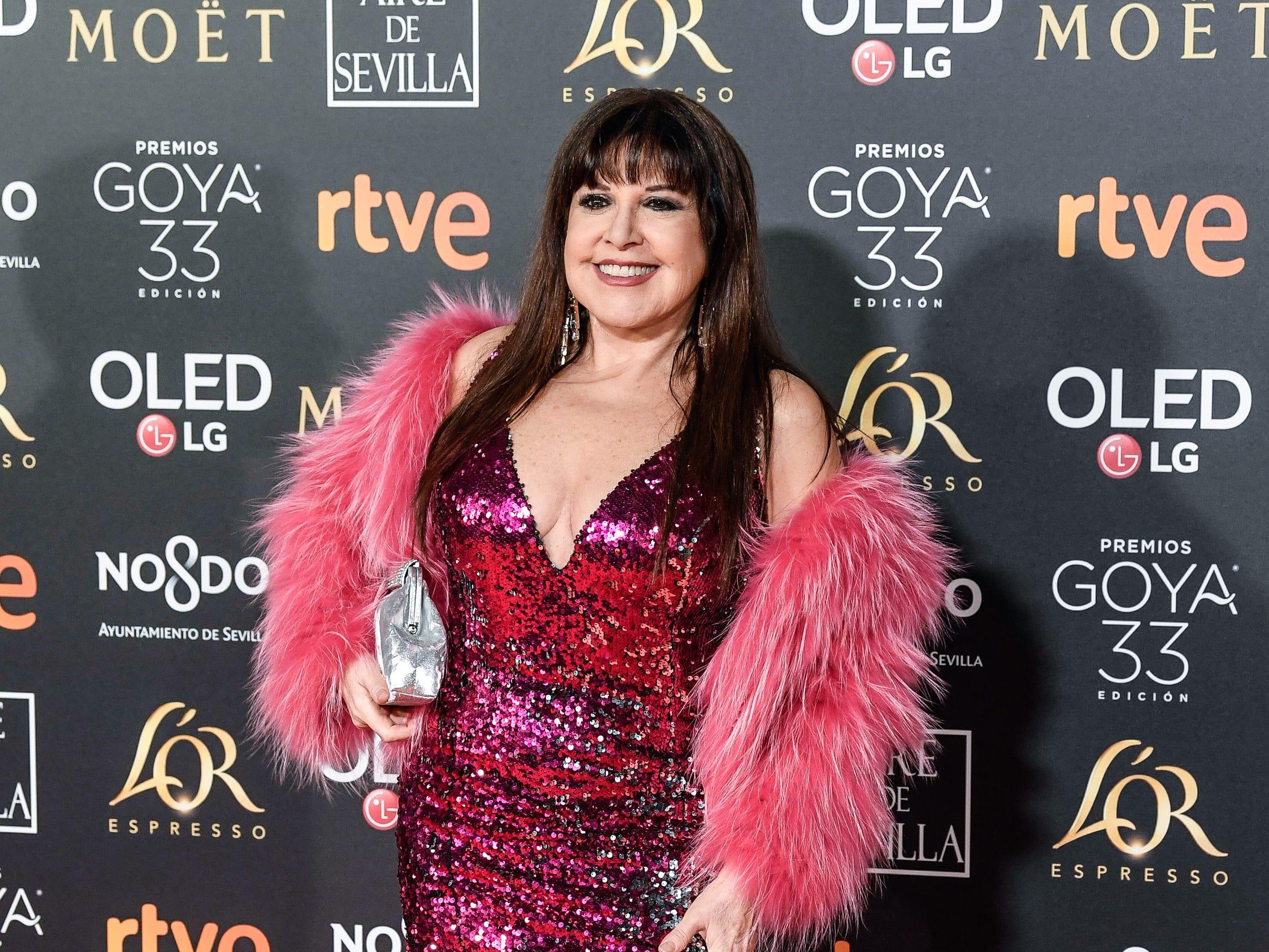 Loles León asiste a la 33ª edición de los Premios de Cine Goya en el Palacio de Congresos y Exposiciones FIBES el 2 de febrero de 2019 en Sevilla, España.