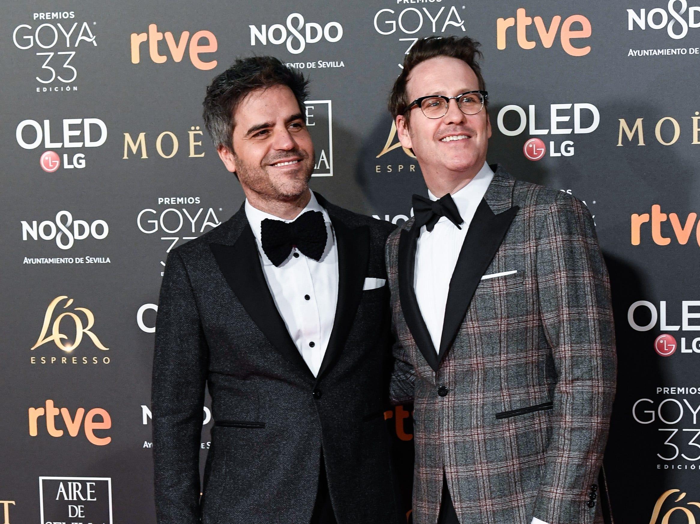 Ernesto Sevilla y Joaquin Reyes asisten a la 33ª edición de los Premios de Cine Goya en el Palacio de Congresos y Exposiciones FIBES el 2 de febrero de 2019 en Sevilla, España.