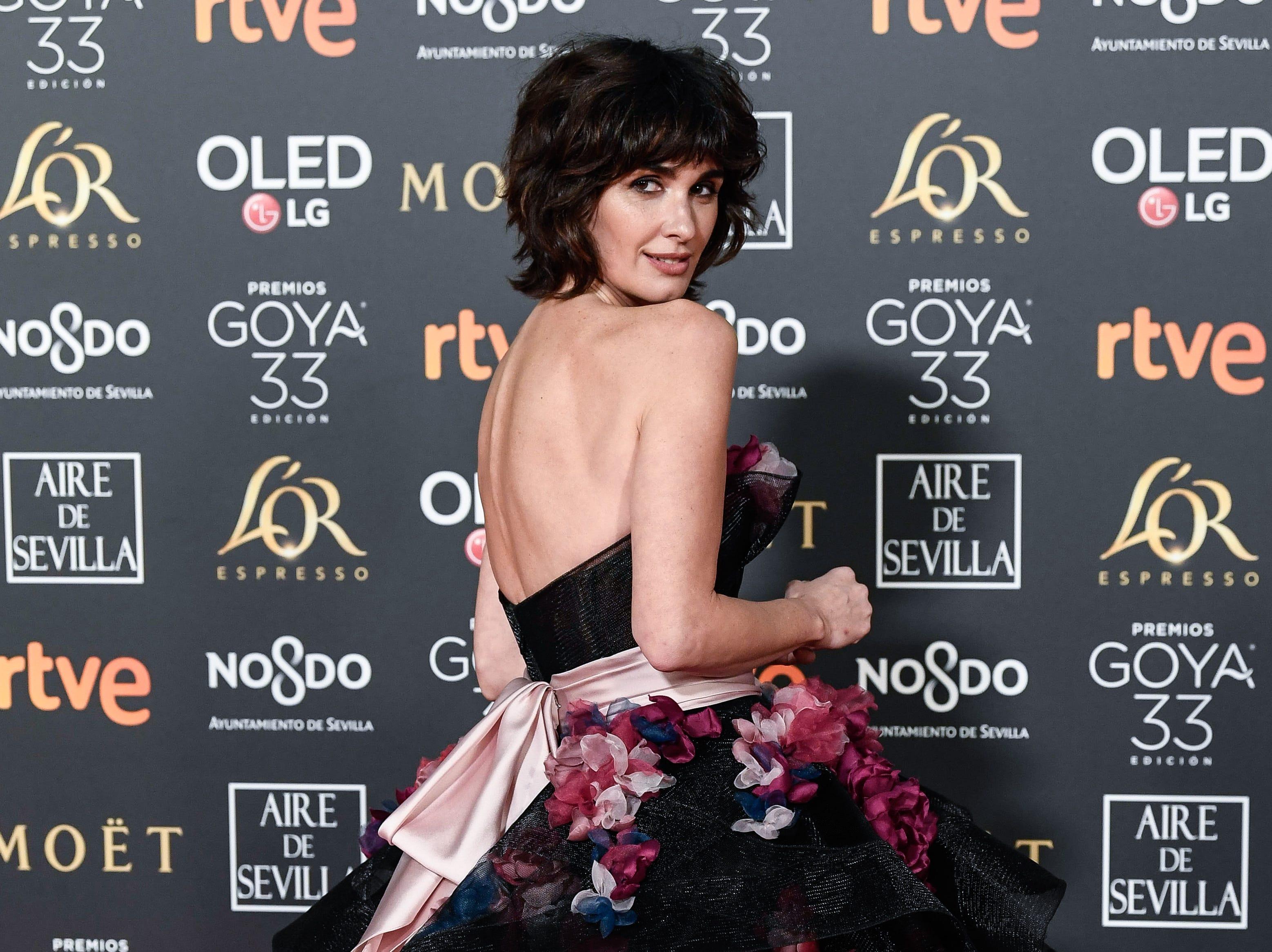 Paz Vega asiste a la 33ª edición de los Premios de Cine Goya en el Palacio de Congresos y Exposiciones FIBES el 2 de febrero de 2019 en Sevilla, España.
