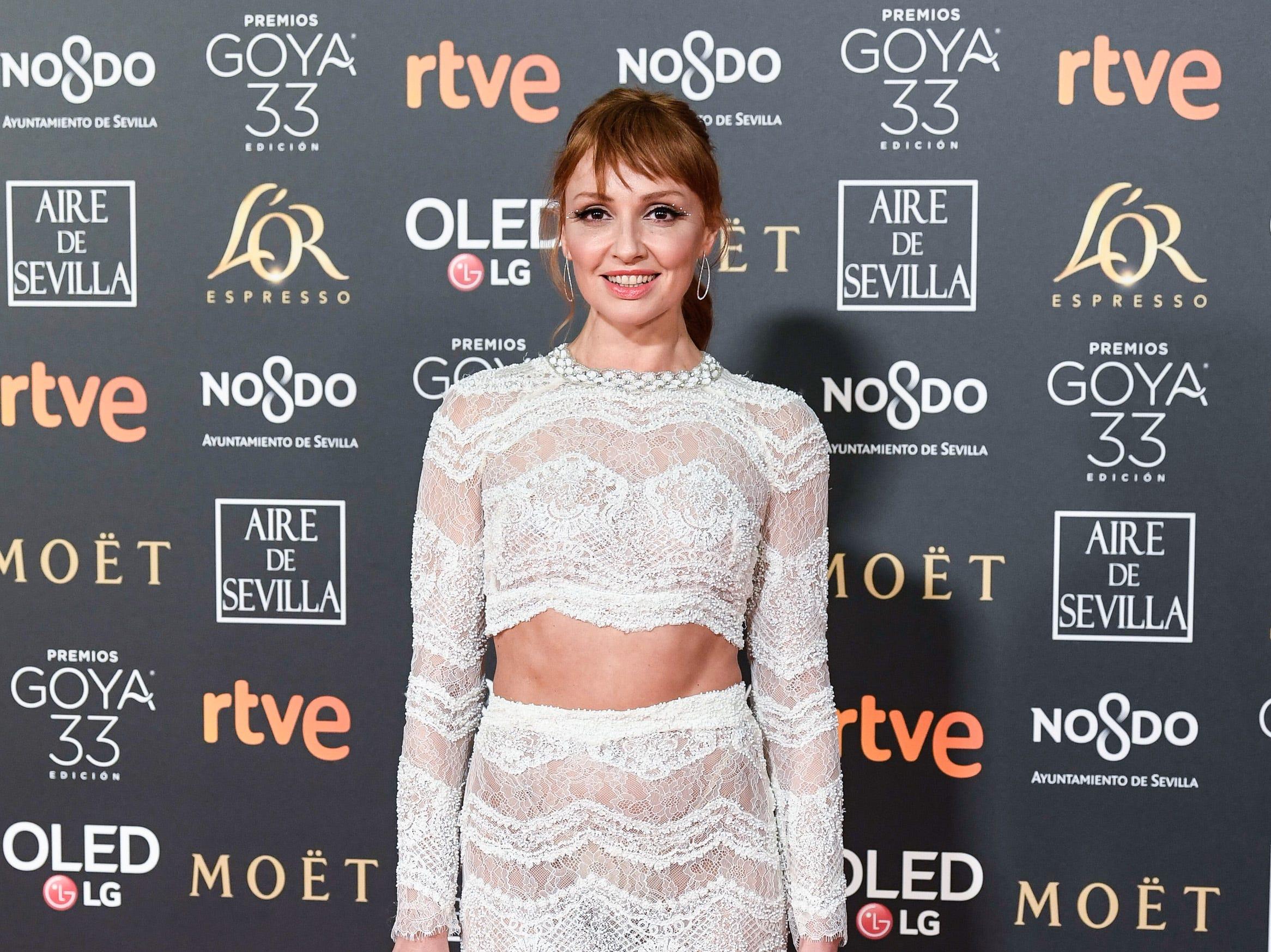 Cristina Castaño asiste a la 33ª edición de los Premios de Cine Goya en el Palacio de Congresos y Exposiciones FIBES el 2 de febrero de 2019 en Sevilla, España.