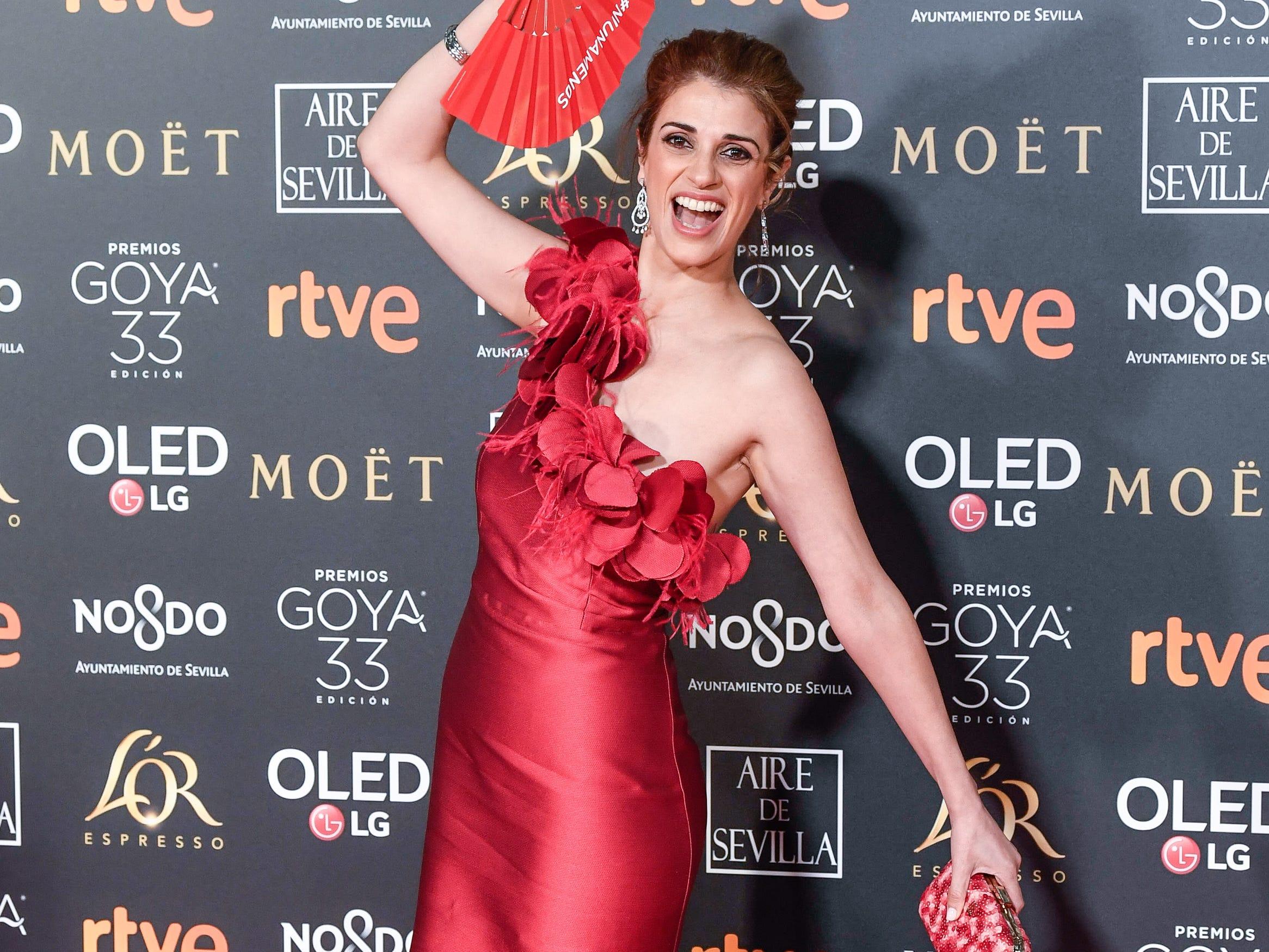 Ruth Gabriel asiste a la 33ª edición de los Premios de Cine Goya en el Palacio de Congresos y Exposiciones FIBES el 2 de febrero de 2019 en Sevilla, España.