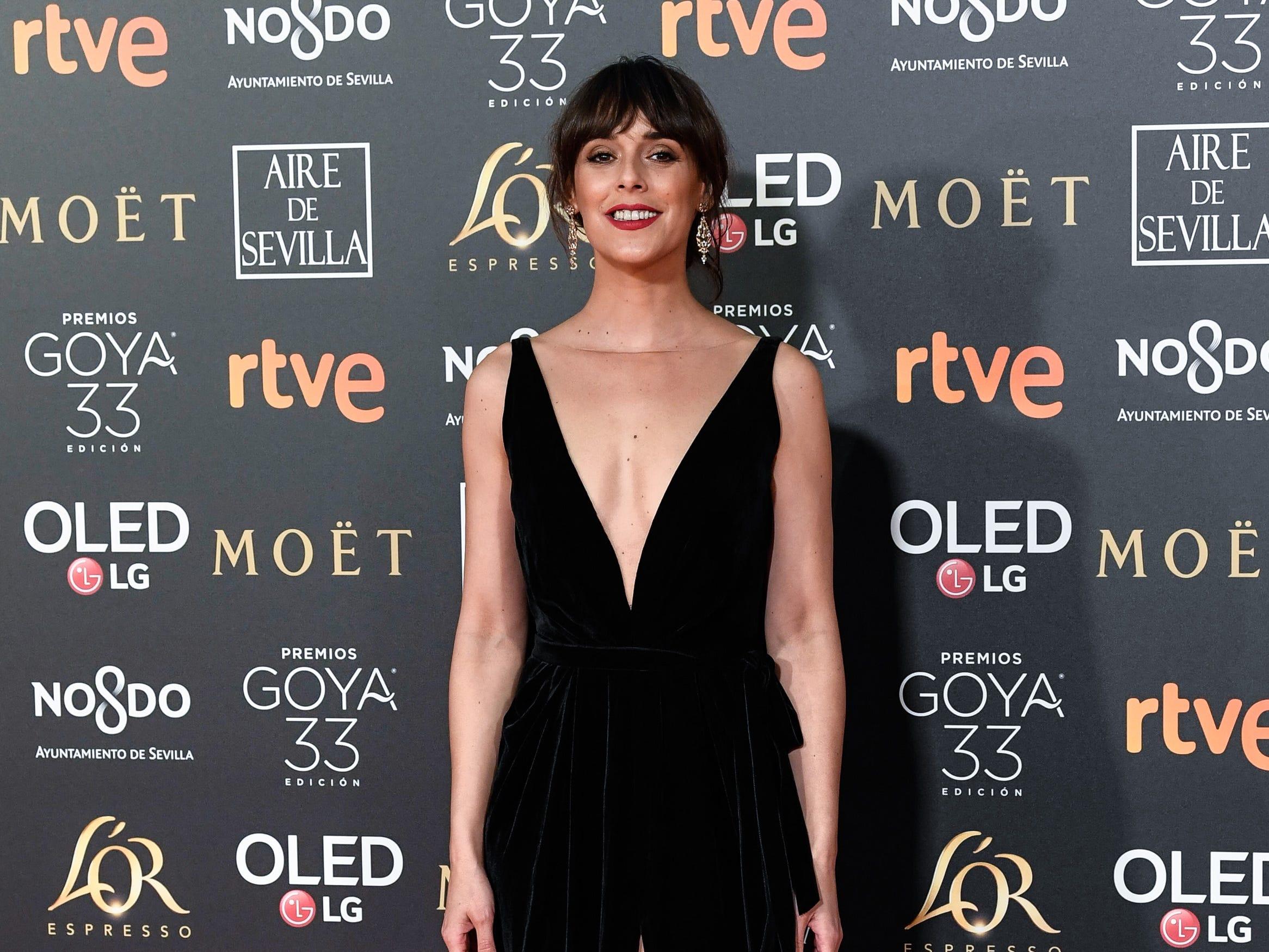Belén Cuesta asiste a la 33ª edición de los Premios de Cine Goya en el Palacio de Congresos y Exposiciones FIBES el 2 de febrero de 2019 en Sevilla, España.