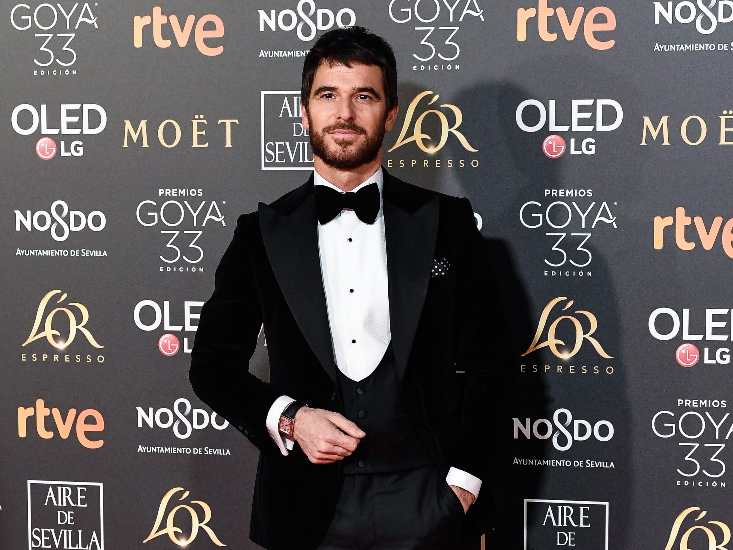 Alfonso Bassave asiste a la 33ª edición de los Premios de Cine Goya en el Palacio de Congresos y Exposiciones FIBES el 2 de febrero de 2019 en Sevilla, España.