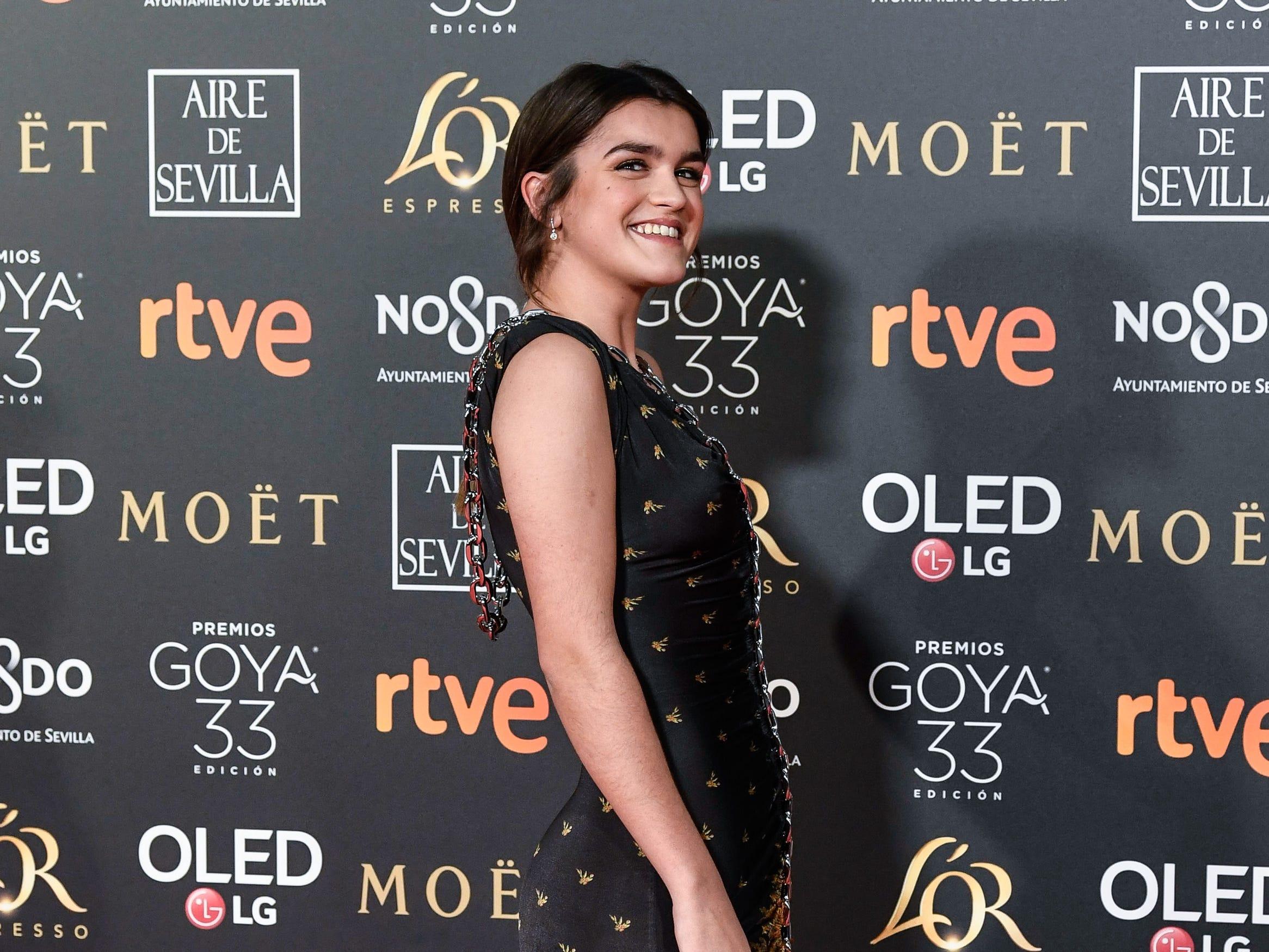 Amaia Romero asiste a la 33ª edición de los Premios de Cine Goya en el Palacio de Congresos y Exposiciones FIBES el 2 de febrero de 2019 en Sevilla, España.