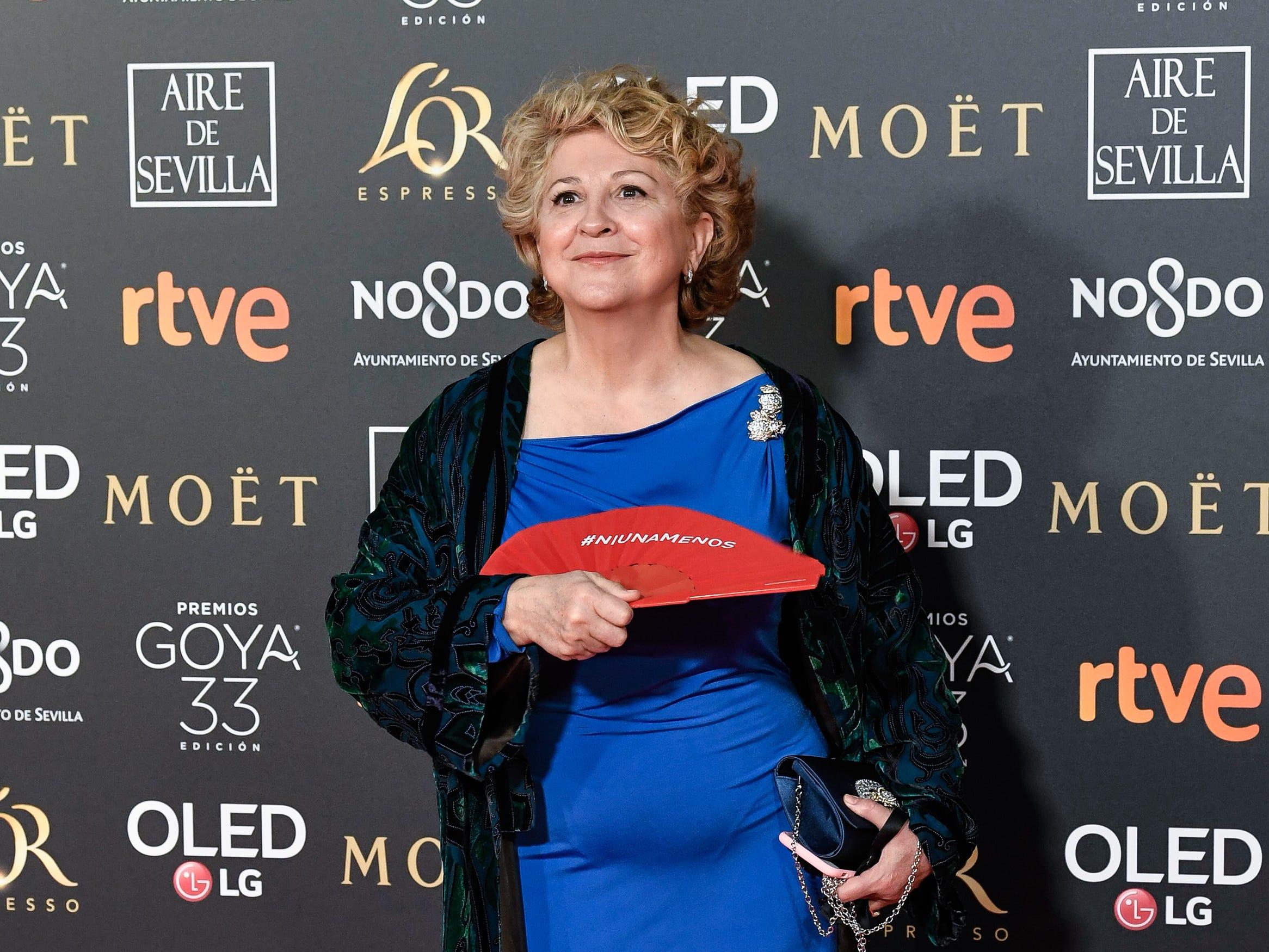 Esther García asiste a la 33ª edición de los Premios de Cine Goya en el Palacio de Congresos y Exposiciones FIBES el 2 de febrero de 2019 en Sevilla, España.