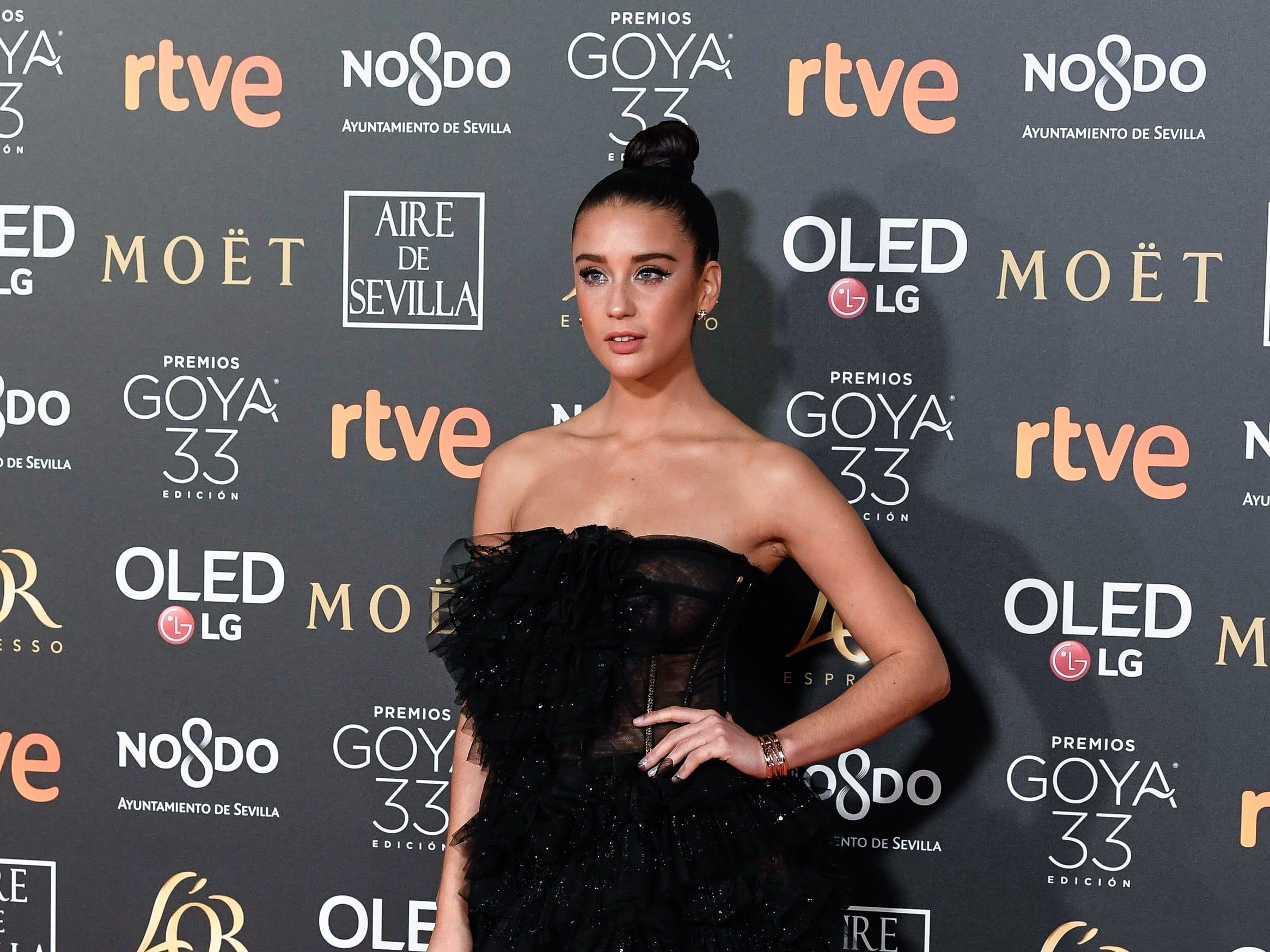 María Pedraza asiste a la 33ª edición de los Premios de Cine Goya en el Palacio de Congresos y Exposiciones FIBES el 2 de febrero de 2019 en Sevilla, España.