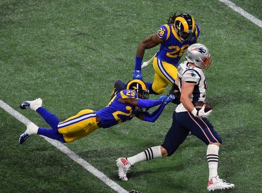Los Rams muy poco pudieron hacer para detener los avances de sus rivales.