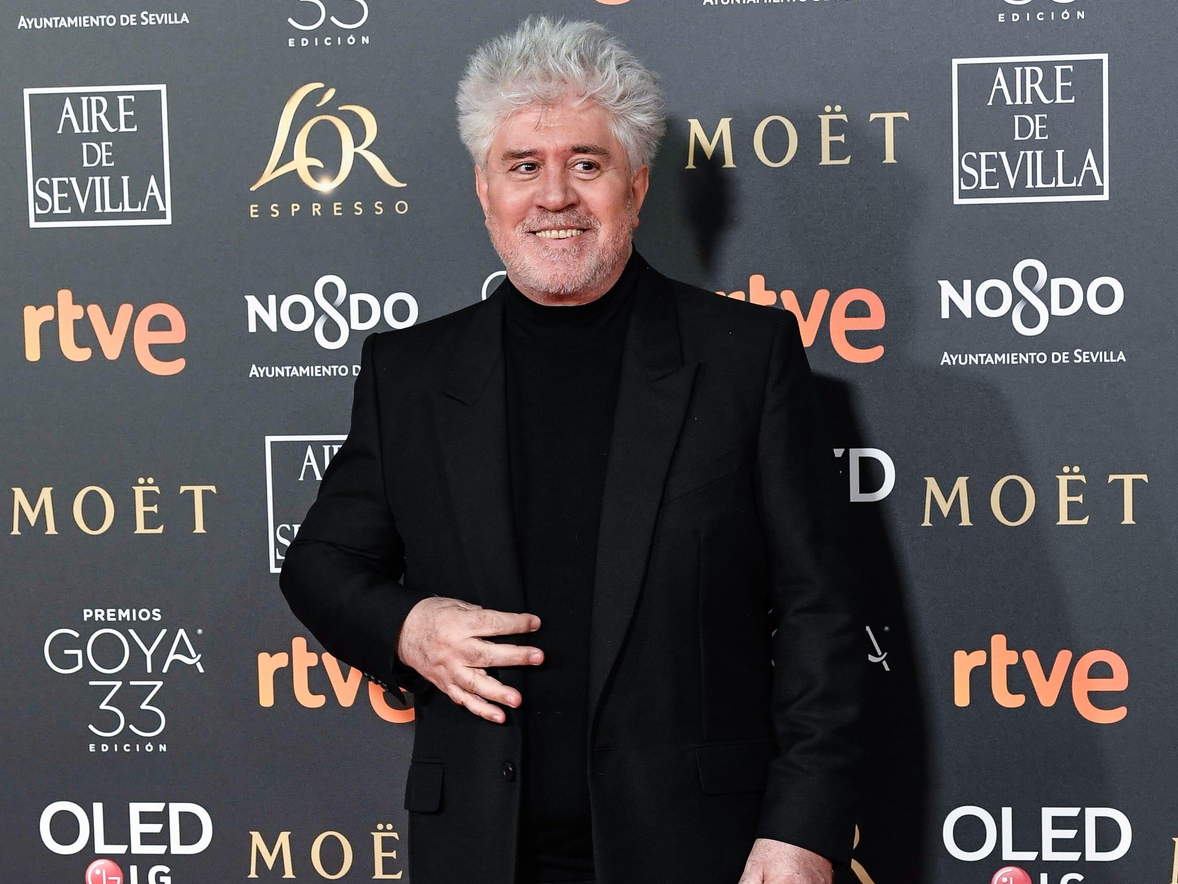 Pedro Almodóvar asiste a la 33ª edición de los Premios de Cine Goya en el Palacio de Congresos y Exposiciones FIBES el 2 de febrero de 2019 en Sevilla, España.