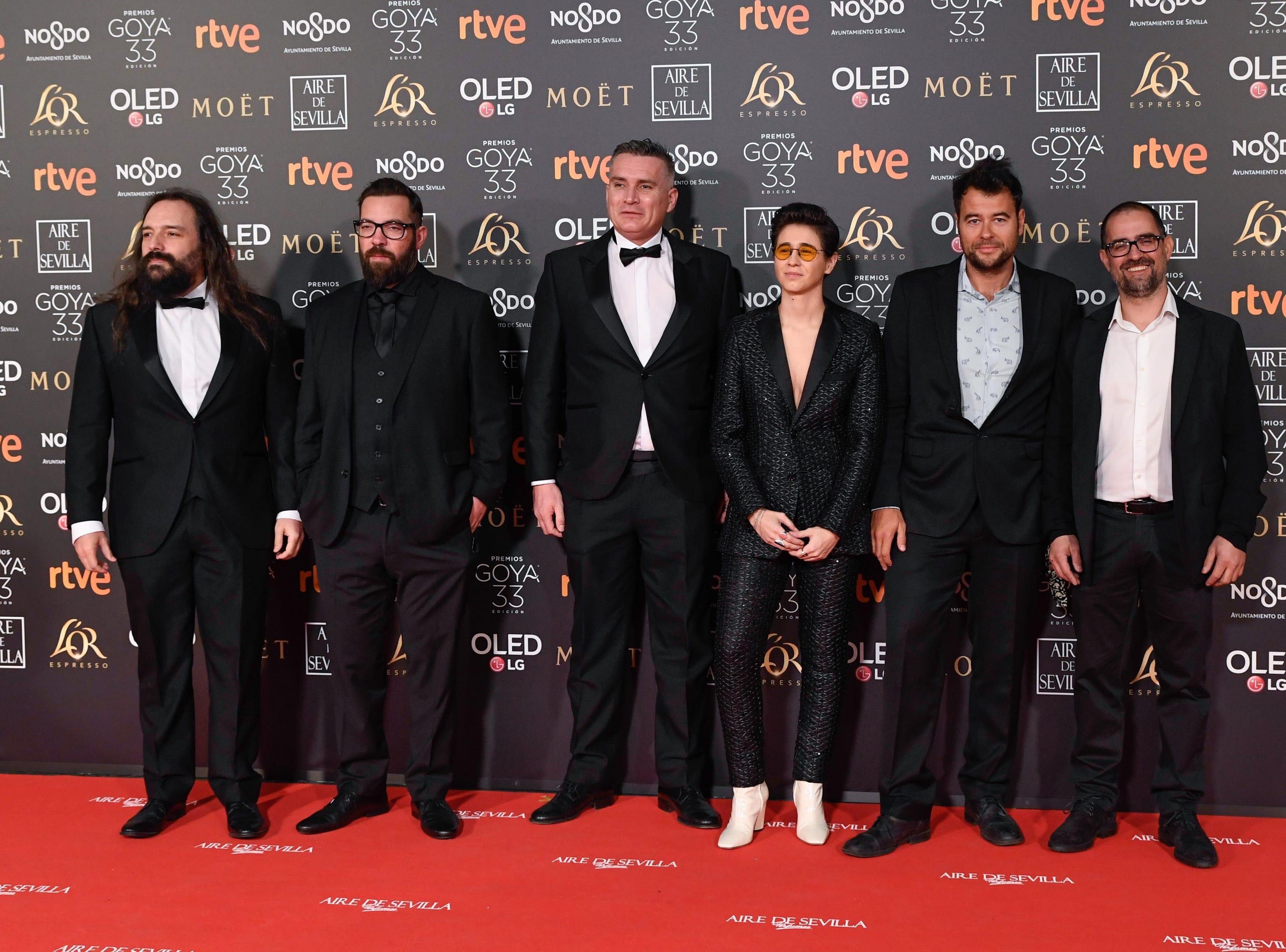 El elenco de 'Superlopez' asiste a la 33ª edición de los Premios de Cine Goya en el Palacio de Congresos y Exposiciones FIBES el 2 de febrero de 2019 en Sevilla, España.