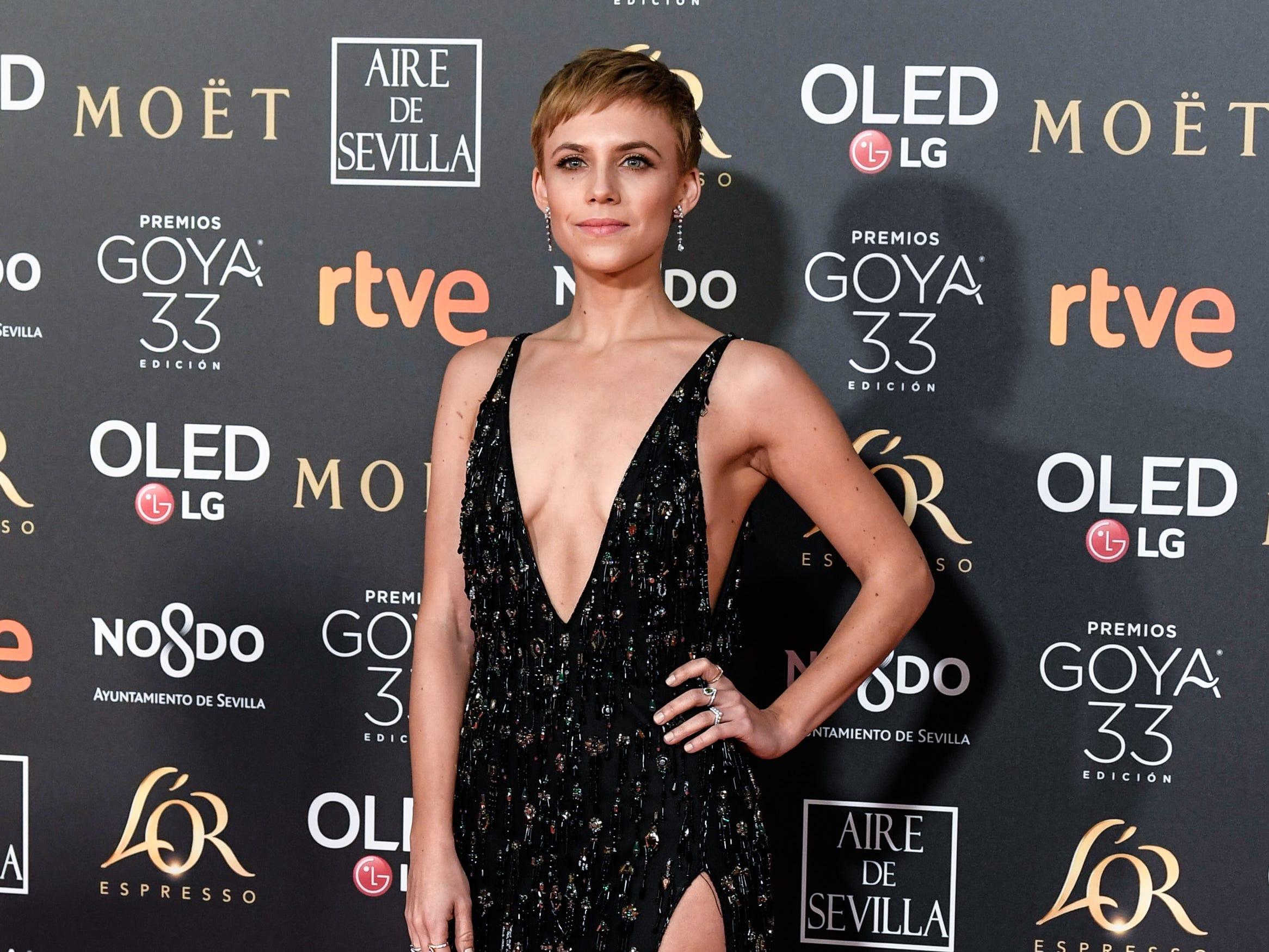 Aura Garrido asiste a la 33ª edición de los Premios de Cine Goya en el Palacio de Congresos y Exposiciones FIBES el 2 de febrero de 2019 en Sevilla, España.