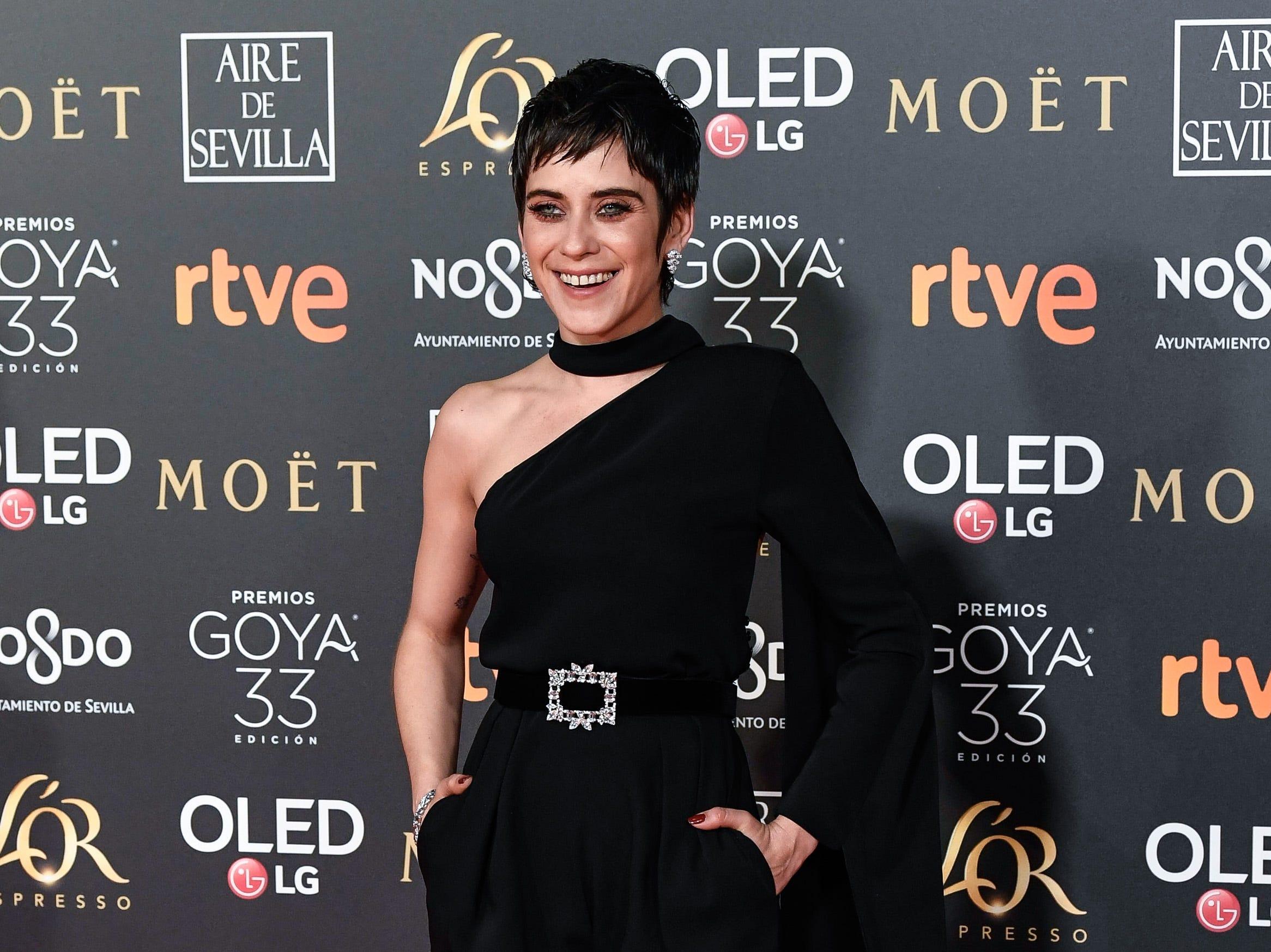 María León asiste a la 33ª edición de los Premios de Cine Goya en el Palacio de Congresos y Exposiciones FIBES el 2 de febrero de 2019 en Sevilla, España.