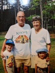 Kenneth and Marion Koch with their grandchildren.