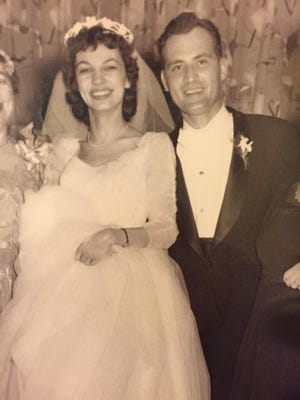 Kenneth and Marion Koch on their wedding day.