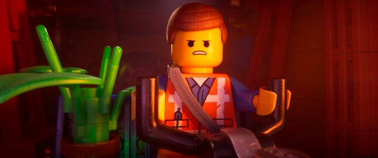 "Emmet, voiced by Chris Pratt,stars in ""The Lego Movie 2: The Second Part."" The movie opens Feb. 7 at Regal West Manchester Stadium 13 and R/C Hanover Movies."