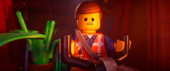 """Emmet, voiced by Chris Pratt,stars in """"The Lego Movie 2: The Second Part."""" The movie opens Feb. 7 at Regal West Manchester Stadium 13 and R/C Hanover Movies."""