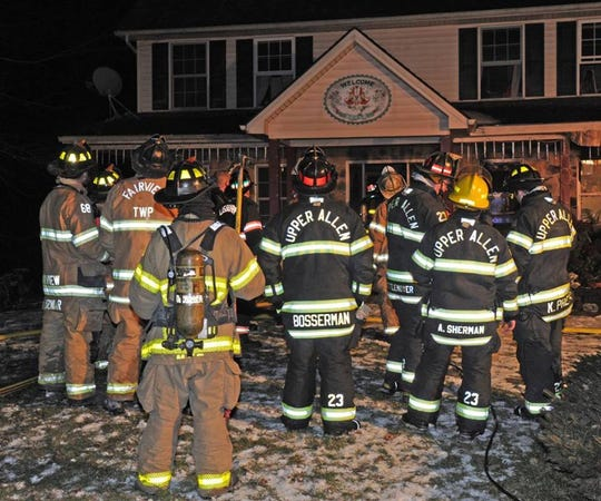 Firefighters responded to a home in the 400 block of East Mount Airy Road in Monaghan Township Monday, Feb. 4. Photo courtesy of Curt Werner.