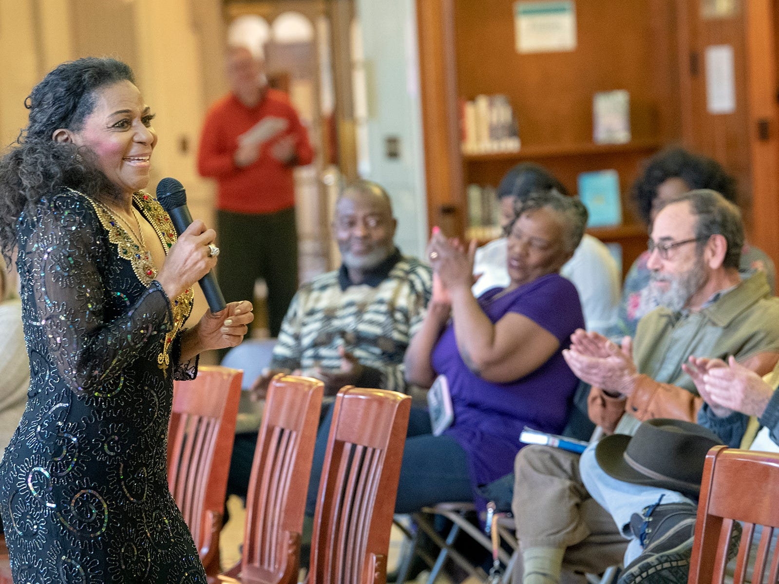 Vanda Guzman performs during a free concert at Martin Library on Sunday February 3, 2019.