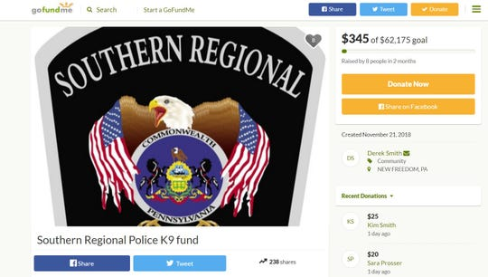 Southern Regional Police Department is raising money to restart its K-9 unit.