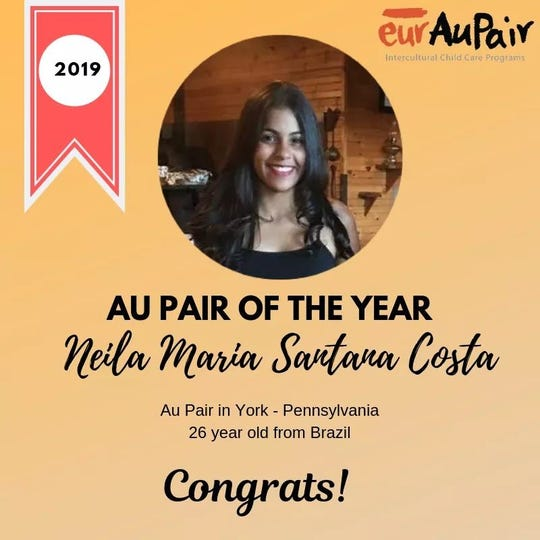 "Neila Santana was awarded eurAuPair's ""Au Pair of the Year""."
