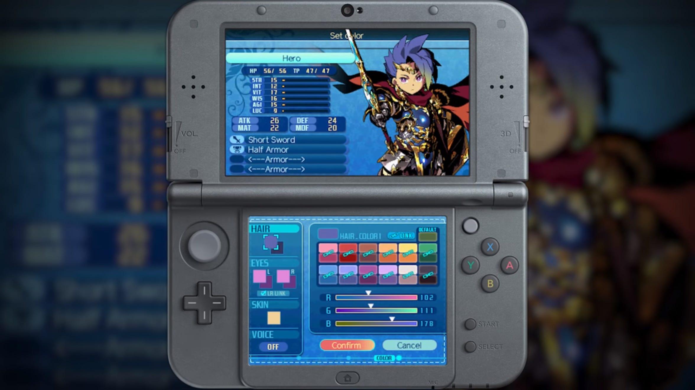 Etrian Odyssey Nexus for the Nintendo 3DS