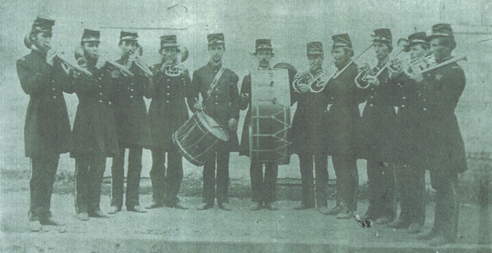 Mitchell's cornet band formed in 1858, never dreaming they would be a favorite of President Abraham Lincoln. They played for the president-elect on his way to Washington; they also played when Lincoln's body was transported through Wayne County to Illinois.