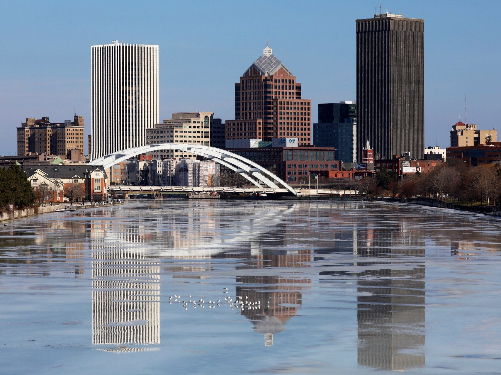 After the deep freeze of last week  Rochester was working on its tan in full sun Monday.