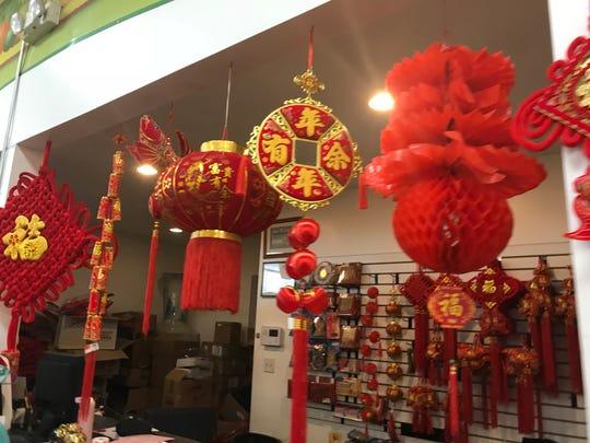 Lanterns for sale at Asia Food Market, Henrietta.