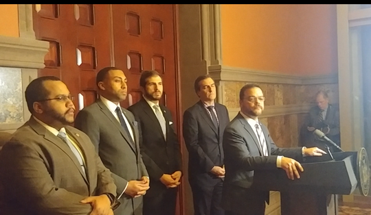 "A group of state lawmakers on Monday held a press conference in Albany to address what they called ""human rights violations"" at the Metropolitan Detention Center in Brooklyn. The prison went a week without heat and hot water in subzero tempatures."