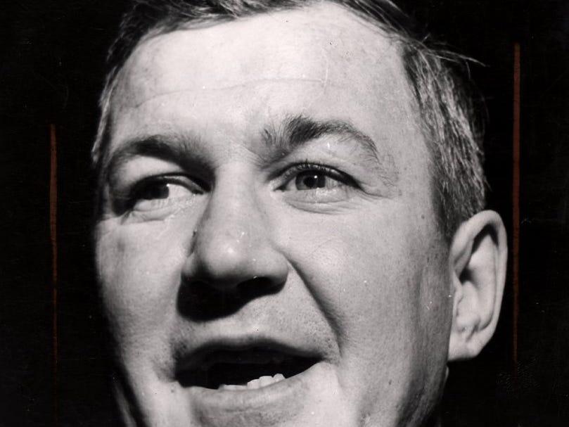 Rochester Americans coach Joe Crozier shown during the 1964-65 Calder Cup season.
