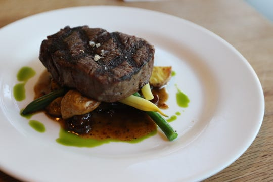 The menu at The Blue Goat in Amity changed regularly to feature seasonal produce, including wax and green beans with beef tenderloin, pictured on Jul. 26, 2018.