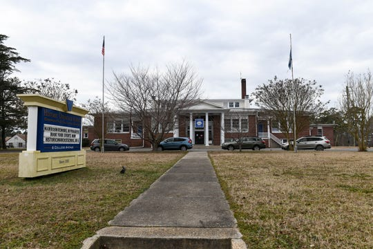 The historic Onancock High School, from which Virginia Gov. Ralph Northam graduated in 1977, is now a community center. Schools in Accomack County were desegregated in the 1970-71 school year when Northam was in sixth grade.