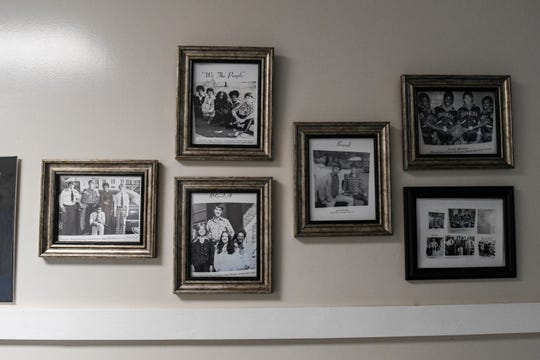 High school yearbook photos of Gov. Ralph Northam hang in the historic Onancock High School, from which Virginia Gov. Ralph Northam graduated in 1977. Schools in Accomack County were desegregated in the 1970-71 school year when Northam was in sixth grade.