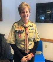 Kathy Myszewski became a scout when she was seven and then joined various leadership roles within the Boy Scouts of America. She has been involved with the Boy Scouts of America for over 35 years and had sons who were scouts themselves. She also holds a Wood Badge, a prestigious badge for adults who have gone through adult leadership training.