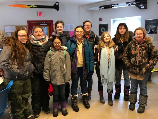 Scouts BSA Troop 838, Beaver Dam Saturday, Feb. 2. They are part of the first group of girls who are now scouts under the Boy Scouts of America's redesigned Scouts BSA, formerly the Boy Scouts.