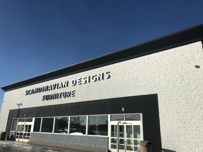 Scandinavian Designs is open for business in the old Toys R Us space near the Empire Mall. The California-based furniture retailer specializes in the increasingly popular mid-century modern and Scandinavian-rustic styles.