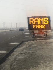 The Minnehaha County Highway Department reached out to fans in Brandon over Super Bowl weekend.