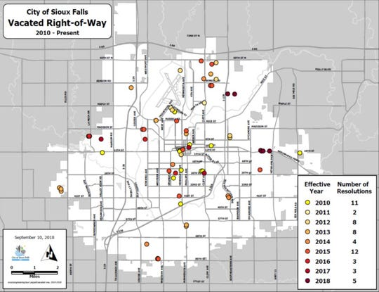 The Sioux Falls City Council has authorized the closure of dozens blocks of city streets in the last decade as Sanford Health, Avera and other institutions have expanded their campuses.