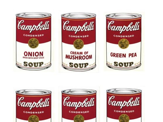 """Campbell's Soup 1"" screenprints made in 1968 by Andy Warhol were reproduced in a Springfield Art Museum brochure prepared for a 2016 Pop Art exhibit. It was the first time the prints had been shown in a decade. The theft of seven of the Warhols was discovered April 7, 2016, and the museum later received a $750,000 insurance payout to cover the loss."