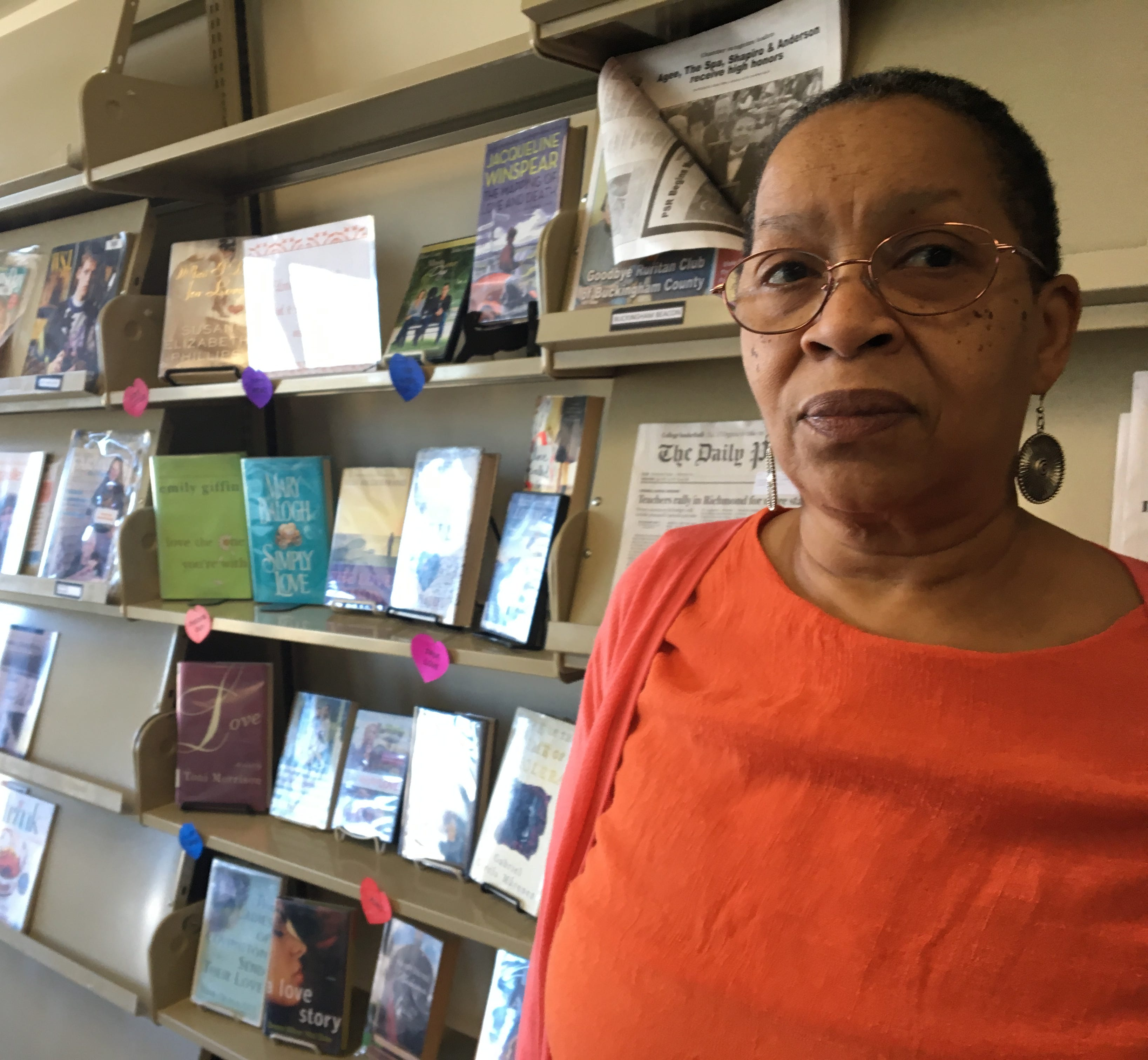 Anne Echols, 62, hears from concerned Buckingham County residents daily at the county library. They fear the compressor station will hurt a historically black community.