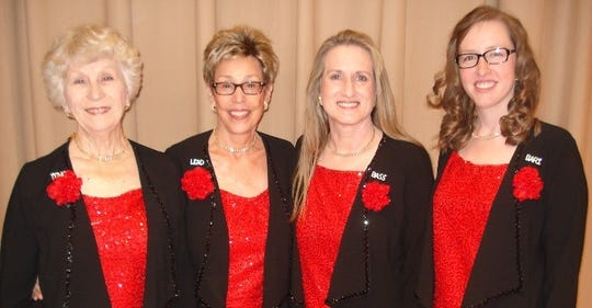 The Barbershop Ladies will be singing quartets for Valentine's Day.