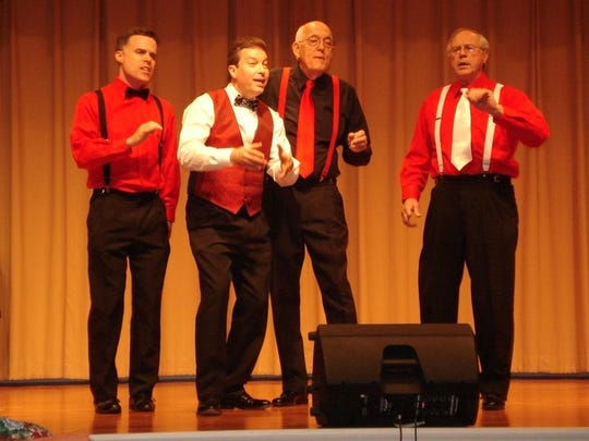 Capital Chordsmen quartets will serenade for Valentine's Day.