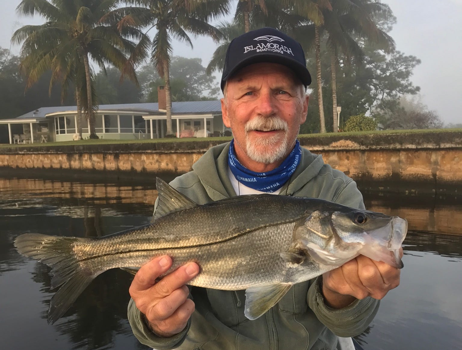 Bob Chew of Palm City caught and released this tarpon snook Sunday while fishing in the South Fork of the St. Lucie River.