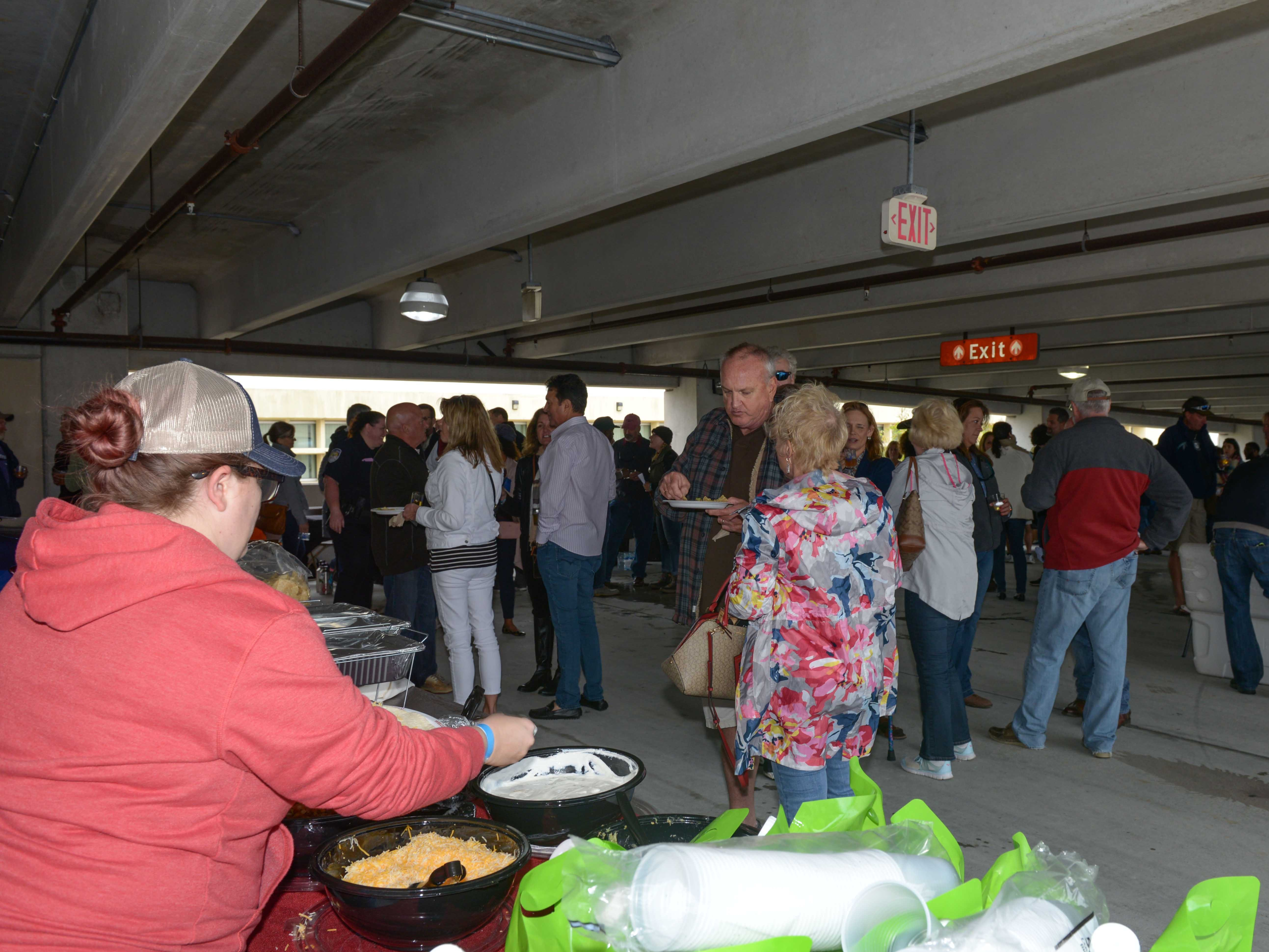 Bluebird Educational Foundation's Groovin' & Tastin' Sunrise City Wine & Spirits Fest moved inside of the Fort Pierce City Parking Garage once the rain started on Feb. 2.