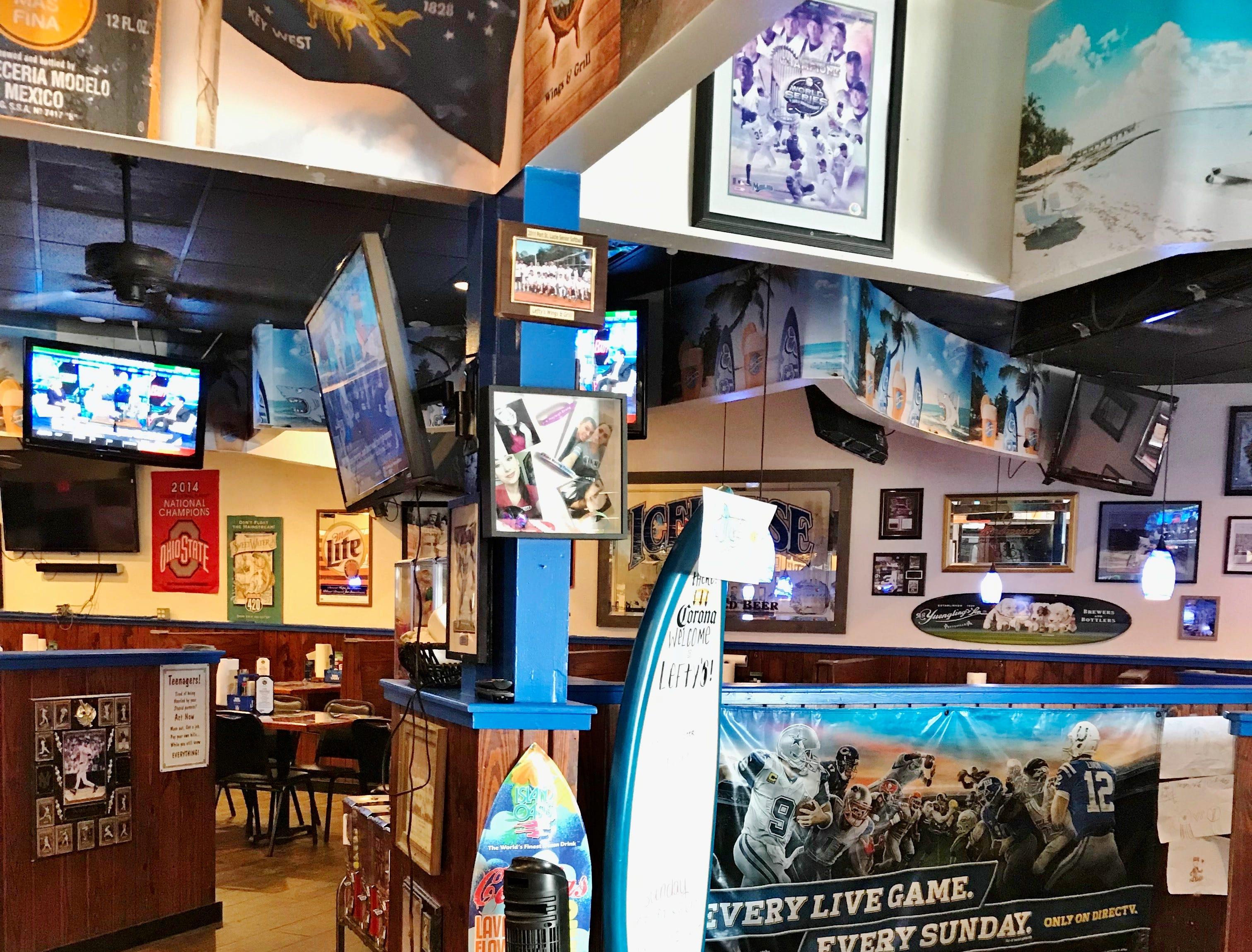 Lefty's Restaurant is a casual and enjoyable neighborhood restaurant.