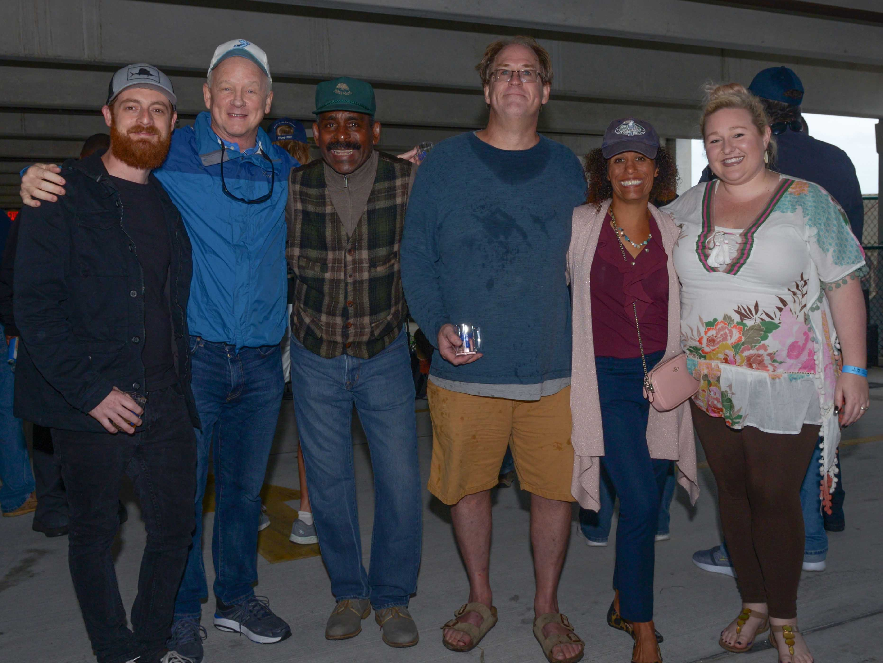Bluebird Educational Foundation Board members, from left, Zack Jones, Chuck Shafer, Founder Darryl Bey, Bryan Welling, Sunny Booker and Marina Forbus at the Bluebird Educational Foundation's Groovin' & Tastin' Sunrise City Wine & Spirits Fest.