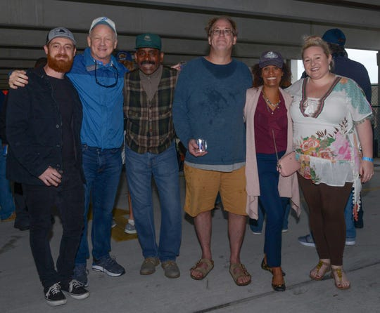 Bluebird Educational Foundation Board members, from left, Zack Jones, Chuck Shafer, Founder Darryl Bey, Bryan Welling, Sunny Booker and Marina Forbus at the Bluebird Educational Foundation's Groovin' & Tastin' Sunrise City Wine & Spirits Fest.